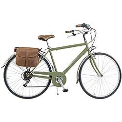 Via Veneto by Canellini Bicicleta Bici Citybike CTB Hombre Vintage Retro Via Veneto Acero (Vert, 54)