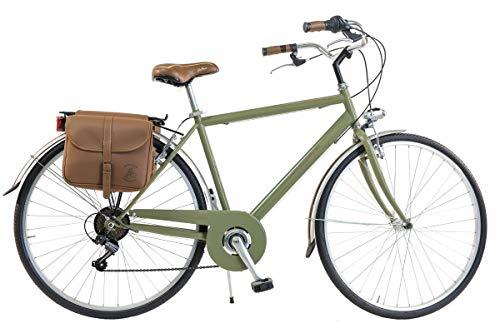 Via Veneto by Canellini Bicicletta Bici Citybike CTB Uomo Vintage Retro Via Veneto Acciaio Verde Oliva Taglia 54