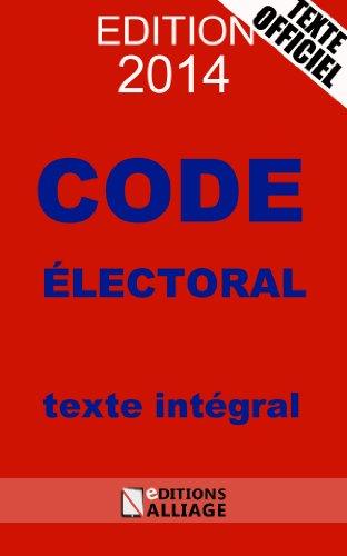 En ligne Code électoral 2014 pdf, epub ebook