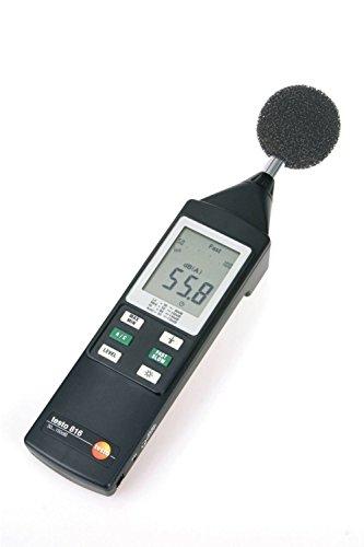 Preisvergleich Produktbild Testo 0563 8165 816 Schallpegel-Messgerät, inklusive Mikrofon, Windschutz, Klinkenstecker, 3.5 mm im Systemkoffer und Batterien