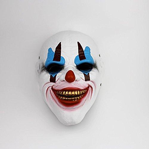 e Clown Maske Horror Maske Dark Night Knight Harz grünes Haar COS Maske verkleiden Sich Persönlichkeit Requisiten Masken,B ()
