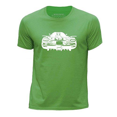 stuff4-chicos-edad-de-7-8-122-128cm-verde-cuello-redondo-de-la-camiseta-plantilla-coche-arte-agera