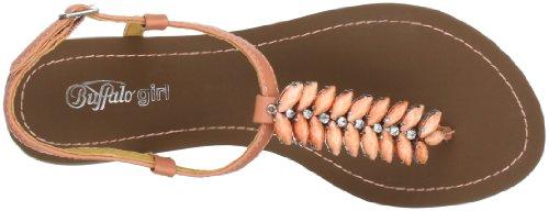 Buffalo 312-0690 Leather Pu, Sandales femmes Orange (peach 01)