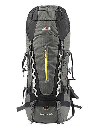 Im Freienberg Taschen 70L Rucksack Männer und Frauen wandern reisen Schulter wasserdicht Camping Rucksack Sport Schwarz