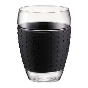 Bodum 11166-01 Pavina Set 2 Verres 0,45 L Noir