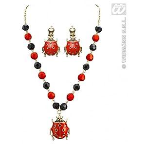 widmann-wdm7518l disfraz Adulto para mujer, Color Negro y Rojo, wdm7518l