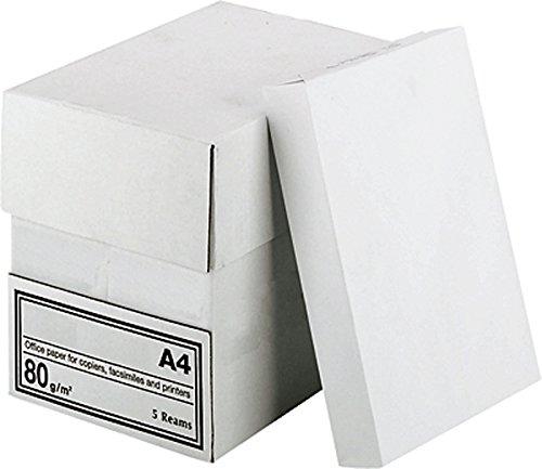 2500 Blatt A4 80g weiß Kopierpapier Druckerpapier Laserpapier Faxpapier Duplex 5 x 500 Blatt ((A) A4)