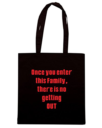 T-Shirtshock - Borsa Shopping OLDENG00658 soprano family Nero