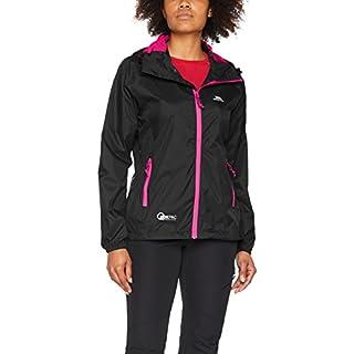 Trespass Qikpac Jacket Female, Black, M, Compact Packaway Waterproof Jacket for Women, Medium, Black