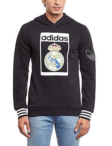 adidas - Sweats à capuche etHauts de survêtements - Sweat-shirt a capuche molleton Real Madrid - Noir -