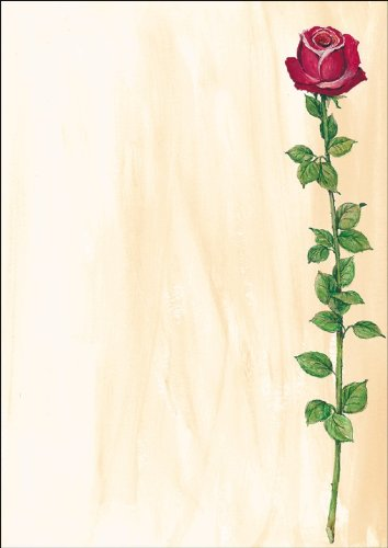 "SIGEL DP695 Motiv-Papier ""Rose Bloom"", Briefpapier 90 g, DIN A4, 25 Blatt - weitere Motive"