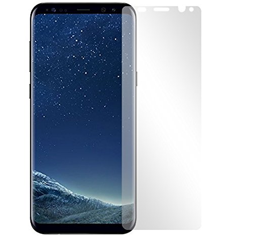 Slabo 4 x Displayschutzfolie für Samsung Galaxy S8 Displayfolie Schutzfolie Folie Zubehör (verkleinerte Folien, aufgrund der Wölbung des Displays) Crystal Clear KLAR - unsichtbar Made IN Germany