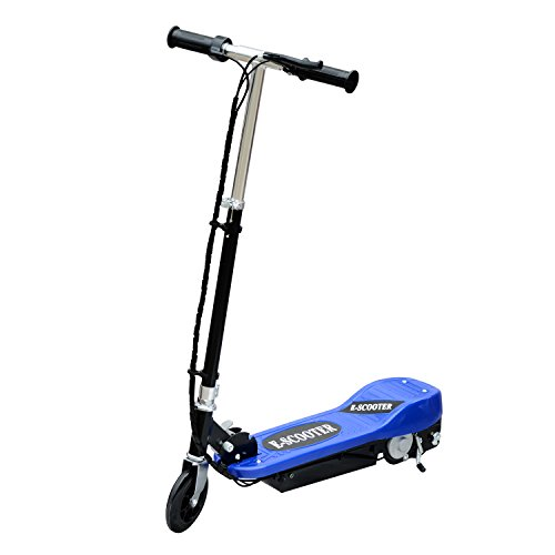 HOMCOM - Monopattino E-Scooter Pieghevole per Bambini Velocità Max 12KM/H, 81.5 x 37 x 96cm, Blu