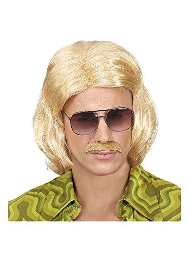(Widmann 46939 Perücke 70er Jahre mit Schnurrbart, Blond)