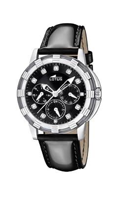 Lotus 15746/8 - Reloj analógico de cuarzo para mujer con correa de piel, color negro de Lotus
