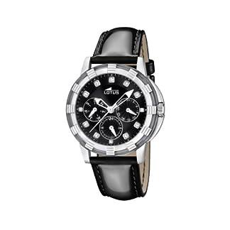 Lotus 15746/8 – Reloj analógico de Cuarzo para Mujer con Correa de Piel, Color Negro