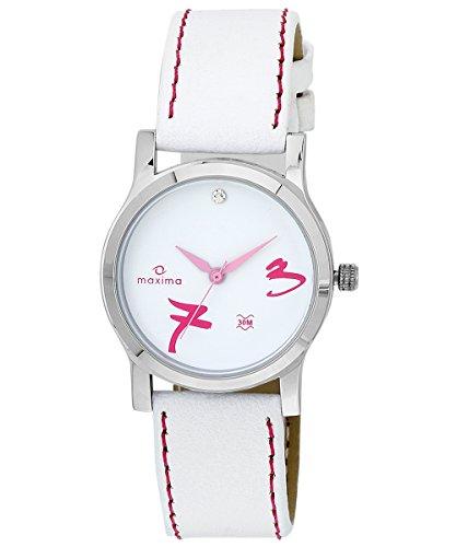 Maxima Attivo Analog White Dial Women's Watch - 23349LMLI