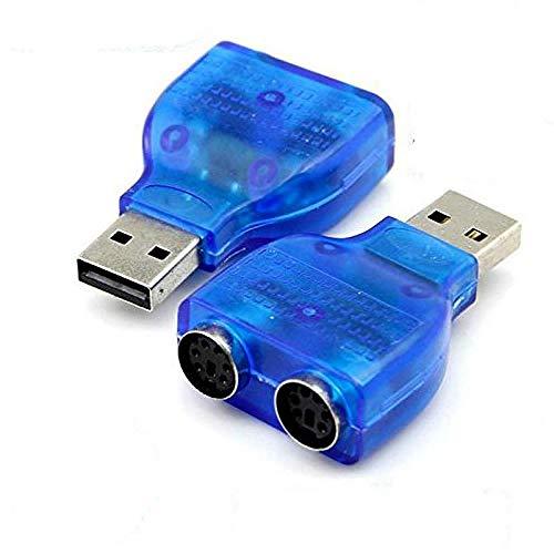 Tastatur Konverter Kabel (TOSSPER USB-Stecker auf PS2 weiblichen Kabel-Adapter-Konverter-Gebrauch für Tastatur Maus)