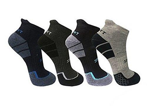 BestSale247 6 Paar Herren Sport Sneaker Socken Kurzsocken Vollrottee Füßlinge (6 Paar   Farbmix, 43-46)