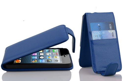 Cadorabo - Etui Housse Coque pour Apple iPhone 5 / 5G / 5S en Flip Style - Case Cover Bumper Portefeuille en BLEU CÉLESTE