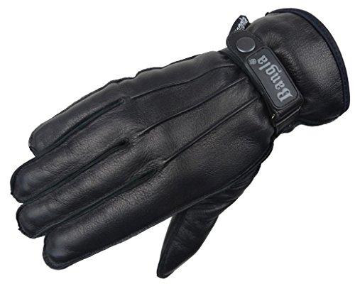 5510 Bangla Winter Handschuhe schwarz aus weichem Leder Gr. L