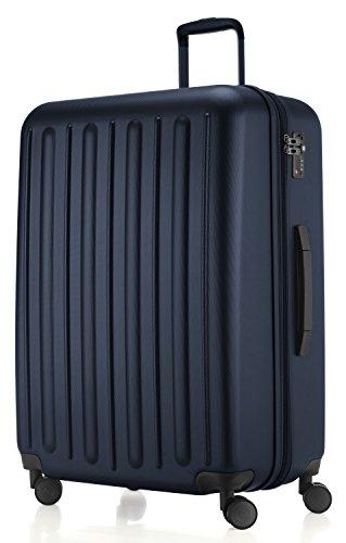 HAUPTSTADTKOFFER - Tegel - Valigia da viaggio rigida e legera, grande 75 cm, Trolley ABS, TSA, 128 litri, Blu scuro