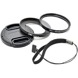 Kiwifotos Kit d'accessoires pour Sony Cyber-shot DSC-RX100 - Adaptateur d'objectif comprend, Filtres UV, Bouchon d'objectif et Bouchon d'Objectif gardien