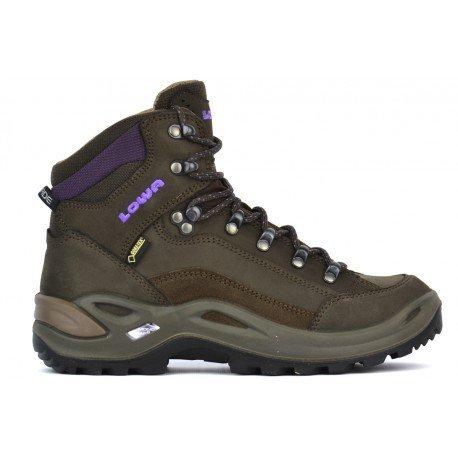 Lowa W Renegade Gtx® MID - Slate / Aubergine - UK 5.5 / EU 39 / US 7 - Womens waterproof Gore-Tex® hiking