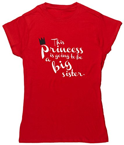 hippowarehouse dieser Princess is going to be a Big Sister Damen Fitted Short Sleeve T-Shirt Rot - Rot