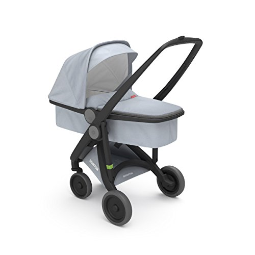 COCHECITO UPP CARRYCOT CHASSIS NEGRO KIT PORTABEBES GRIS GREENTOM