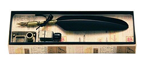 Coles Calligraphy Kleiner Füllfederhalter mit Feder und Ständer, Schwarz