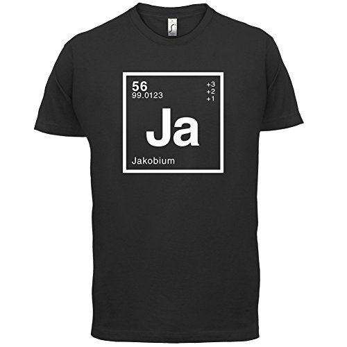 Jakob Periodensystem - Herren T-Shirt - 13 Farben Schwarz