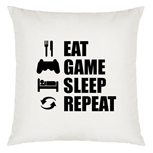 Preisvergleich Produktbild Eat Sleep Repeat Games Design Large Cushion Cover with Filling
