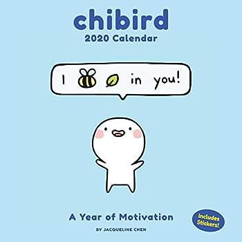 Chibird 2020 Calendar: A Year of Motivation, Includes 17 Chibird Stickers
