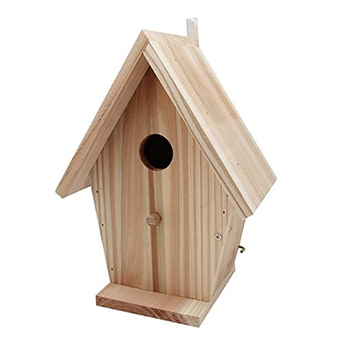 Yuefensu Pajarera Vintage Crafts Country House Bird House Comedero For Pájaros Madera Al Aire Libre...