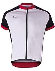 Izas Jayuya - Maillot de ciclismo para hombre, color blanco / negro / rojo, talla M