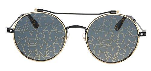 Givenchy gv 7079/s 7y 2m2, occhiali da sole unisex-adulto, nero (black gold/grey), 53