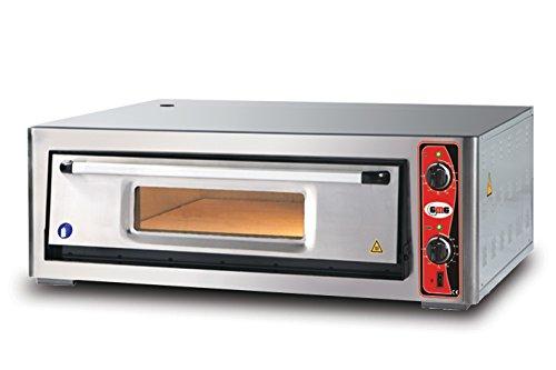 GMG Profi Pizzaofen CLASSIC PF 9292 E für Gastronomie, 1 Backkammer - 9 x Ø 30 cm Pizzen - 92x92x15cm, bis zu 450°C (Ober- und Unterhitze getrennt regelbar), 8000 Watt