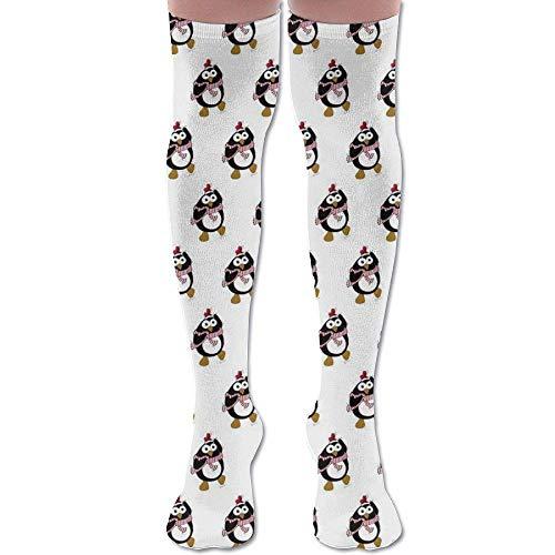 Classic Kostüm Penguin - Gped Kniestrümpfe,Socken Cartoon Christmas Penguin Dancing Athletic Tube Stockings Women's Men's Classics Knee High Socks Sport Long Sock Length 50CM