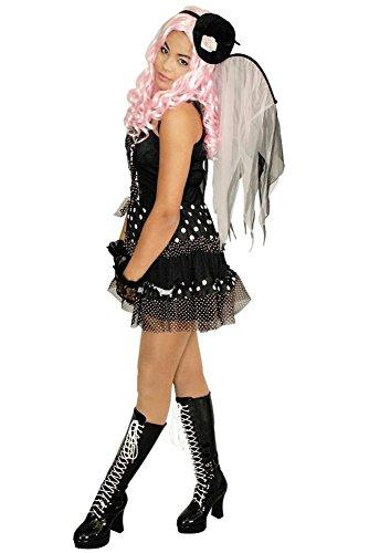 weiß für Damen | Größe 40/42 | 2-teiliges japanisches Kostüm | Anime Faschingskostüm für Frauen | Yuna Verkleidung für Karneval (Anime-kostüme Für Frauen)