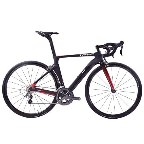 41yE%2BbOIEqL. SS500  - Tropix Paris 700c Wheel Road Racing Bike 48cm Lightweight Carbon Fibre Frame Shimano Ultegra 22 Speed Black/Red 8.3 Kgs