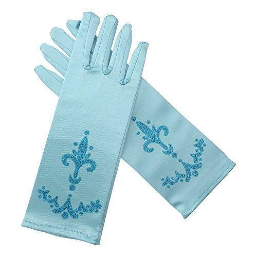 La Señorita Elsa Frozen Handschuhe Blau für Mädchen Eiskönigin (leicht blau)