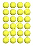 24 x 3,81 cm de pelotas de tenis comestible taza de la torta redonda de adorno para (Para el) fuera de