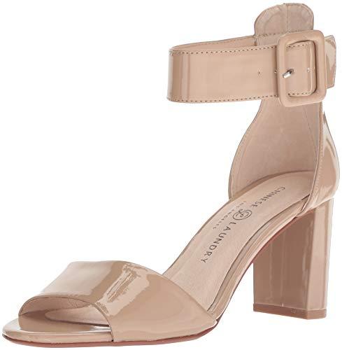 Patent Chunky Heel Sandal (Chinese Laundry Damen Rumor Hautfarben - Nude Patent 38.5 M EU)