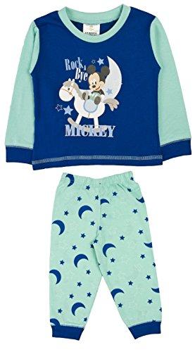 Disney Baby-Schlafanzug, Kinder-Pyjama-Set, für Jungen, Micky Maus-Motiv, blau, LB1155