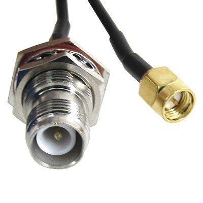 "sourcingmap® SMA Stecker auf RP-TNC Buchse Adapter Steckverbinder RF Koaxial Zopf Kabel 13\"",RP SMA Stecker auf Buchse Adapter Stecker-Tnc RF Koaxial Kabel in Pigtail-Var..."""