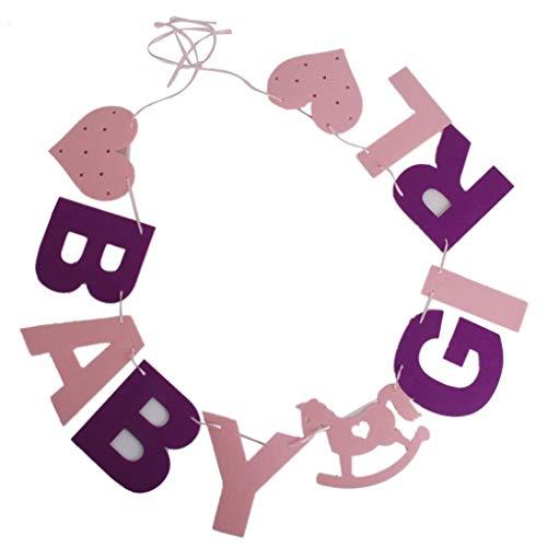 Pigupup Glückliche Bithday-Baby-Mädchen feiern Garland Banner Hängen Partei-Dekorationen Ornamente