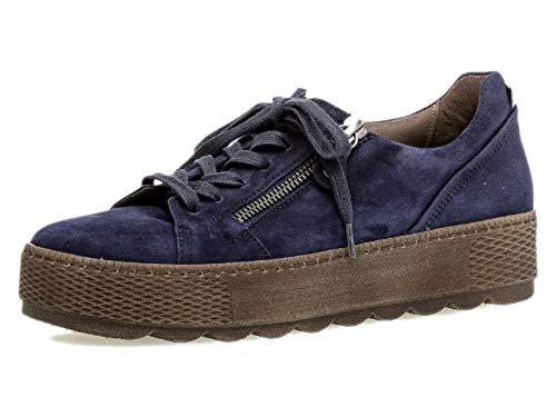 Gabor Damen Low-Top Sneaker 36.538, Frauen Sneaker,Halbschuh,Schnürschuh,Strassenschuh,Business,Freizeit,Bluette/Pazifik,40.5 EU / 7 UK