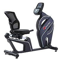 PowerMax Fitness Unisex Adult BR-900 Magnetic Recumbent Bike - Silver/Grey, Universal