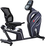 PowerMax Fitness Unisex Adult BR-900 Magnetic Recumbent Bike - Silver/Grey, Universal
